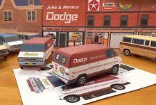 Papercraft DODGE TRADESMAN STREETVAN shop truck 1974-1977 PaperCar  E Z Ubuild
