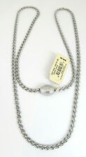 Fossil BRAND Iconic Metal Necklace Lock Silvertone Eternity Link Rtl.