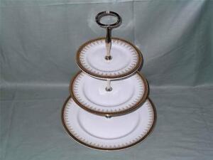Paragon Athena  3-Tier Bone China Hostess Cake Plate Stand (V1)