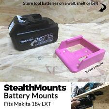 5x PINK Battery Mounts for Makita 18v LXT Li Ion Batteries Holders Wall Hanger