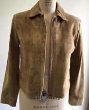 New Womens Lone Pine Candice Italian Leather Suede Jacket Sand color S