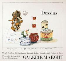 SAUL STEINBERG - Dessins 1981 Original Exhibition Poster Art Print