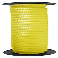"""ANCHOR ROPE DOCK LINE 5/8"""" X 300' BRAIDED 100% NYLON YELLOW MADE IN USA"""