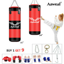 Kids Heavy Boxing Punch Bag With Chain Gloves Junior Boxing Set MMA Training