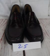 Johnston and Murphy Aristocraft Burgundy Leather Penny Loafer Mens 10 C/A   Z5