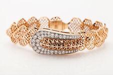 Antique $10,000 RETRO BELT BUCKLE 3ct Diamond 14k Gold LeCoultre Ladies Watch