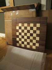 "Drueke #89800 Vintage Chess Table solid walnut NEW IN BOX!  Rare 2.5"" SQUARES!"