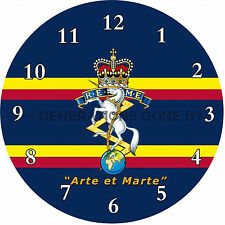 ROYAL ELECTRICAL & MECHANICAL ENGINEERS (REME) GLASS WALL CLOCK