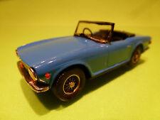 AUTO REPLICAS METAL BUILT KIT TRIUMPH TR 6 TR6 - BLUE 1:43 - EXCELLENT CONDITION