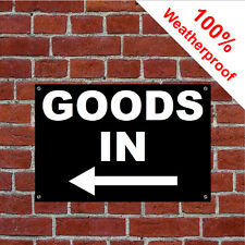 Goods in with left arrow sign Warehouse Shop Stores 9162