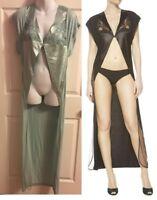 NWT LA Perla Women's Robe Serenade SMALL Rayon/Silk Color:Sage