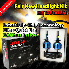 H3 13800LM LED CAR HEADLIGHT KIT HIGH LOW BEAM VEHICLE REPLACE HALOGEN XENON