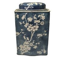 Vintage Floral Tin Can Made In England Design By Daher 6X4.5X4''