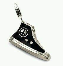 NEW Genuine Thomas Sabo Sterling Silver Black Sneaker Pendant/Charm T0140 £109