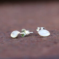 Mother Of Pearl Earrings Sterling Silver Studs New Jewelry Shipping Included
