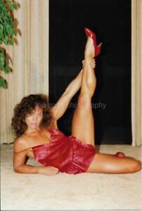 FITNESS MODEL 80's 90's FOUND PHOTO Color PRETTY WOMAN Original EN 17 39 E