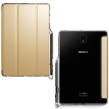 For Galaxy Tab S4 10.5 Soft Silicone Back Case Smart Trifold Cover Champion Gold