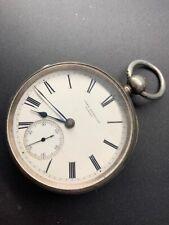 1879 Silver John Bennett London Maker To The Queen Fusee Pocket Watch