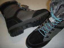 Khombu Janet Leather, Memory Foam Winter Boots w/Faux Fur Women's 11 M Black ~