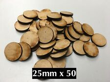 50x 25mm MDF Warhammer Miniature Bases Free Shipping Also Fits Our Movement Tray
