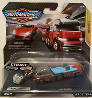 2020 MICRO MACHINES SERIES 1 RACE TEAM #3 RARE CHROME CHASE GT-7 /& TRANSPORTER