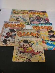 The BEANO UK Comic Book Lot of 5 - Scooby-Doo, Joe Jitsu, 100% Menacing! Rare