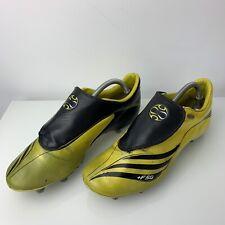 ADIDAS +F50 TUNIT YELLOW/BLACK [2007 VERY RARE] FOOTBALL BOOTS SIZE UK 9.5