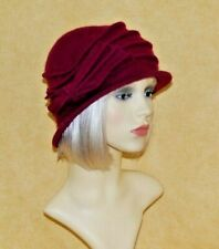Ladies 100% Wool Cloche Hat with Bow, Available in 5 Colours, BNWT.