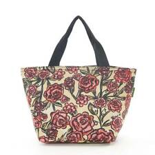 Eco Chic - Beige Roses Print - Insulated Cool Lunch Bag