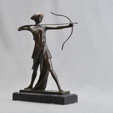Grande Bronzo personaggio, Ferdinando Preiss, Diana con archi, 32 cm