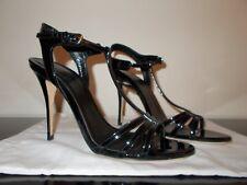 Chaussures sandales en cuir verni noir, Polo Ralph Lauren, occasion