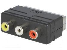 RGB SCART maschio a 3 RCA FEMMINA A/V Adattatore Convertitore per TV DVD VCRs