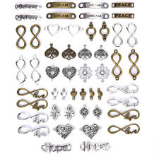 50PCS/Lot Antique Alloy Connector Infinity Charms Pendant DIY Jewelry FinVGUS