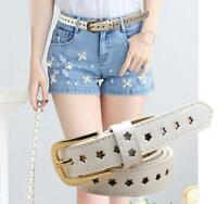Buckle Flower Waist  Belt New Women Ladies Fashion Belt CasualSimple Leather