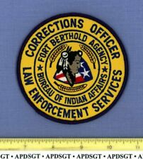 FORT BERTHOLD DOC CORRECTIONS OFFICER NORTH DAKOTA Indian Tribal Police Patch