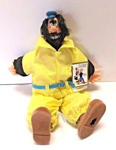 "Vintage Popeye Brutus Doll Plush 1985 Presents Hamilton Gifts King Features 13"""