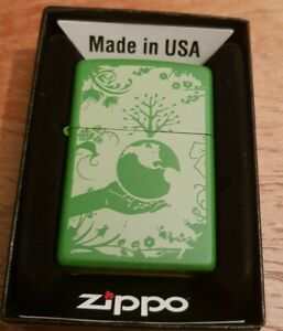 Official Zippo Lighter Environment Boxed Made In USA Smoking Accessory