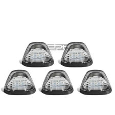 Fit 99-16 Ford Superduty 5Pcs Chrome White Led Cab Roof Running Light+Harness