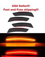 SMOKED LENS LED SIDE MARKER FRONT & REAR SET for 2016-17 CHEVY CAMARO CHEVROLET