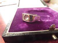 Toller 835 Silber Ring Jugendstil Art Deco Bauhaus Schlicht Zirkonia Variabel