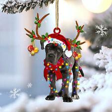 Cane Corso Reindeer Shape Ornament, Hanging Decoration, Hanging Ornaments