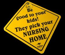 Australian Made Souvenir Roadsign Car Window Suction Swing Sign Nursing Home
