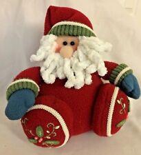 "Multi 9"" Plush Santa Doll Figurine with Floral Design Feet"