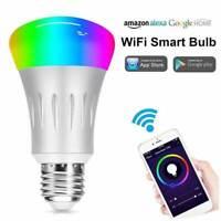 Ampoule Connectée LED E27 WiFi Intelligente Couleurs Compatible Alexa Google