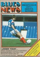 Football Programme - Birmingham City v Bristol Rovers - League Cup - 8/10/1985