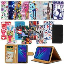 For Various Huawei SmartPhones Folio Leather Stand Wallet Cover Case + Strap