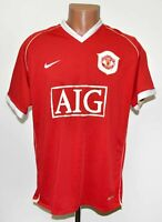 MANCHESTER UNITED ENGLAND 2006/2007 HOME FOOTBALL SHIRT JERSEY NIKE SIZE L ADULT