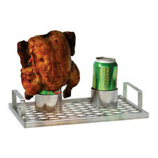TWIN Chick 'n' Brew BBQ Roaster Stainless Steel Portable Outdoor Lightweight