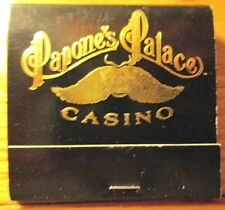Papone's Palace Casino Central City Colorado Matchbook Cover from Casino Lot C