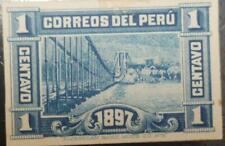 J) 1897 PERU, PAURCATAMBO BRIDGE, AMERICAN BANK NOTE, DIE PROOF, IMPERFORATED